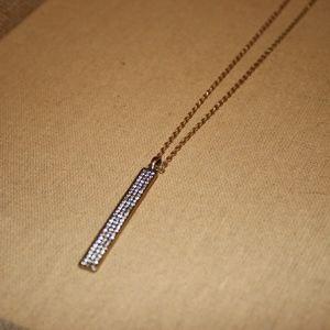 Pave' Long Pendant Necklace